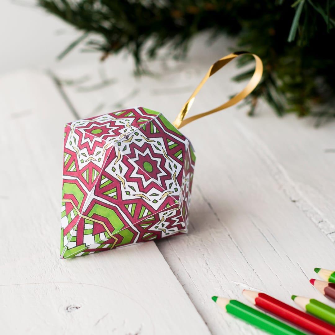 Free Christmas Ornament Template - Sarah Renae Clark - Coloring Book - Free Printable Christmas Ornament Crafts