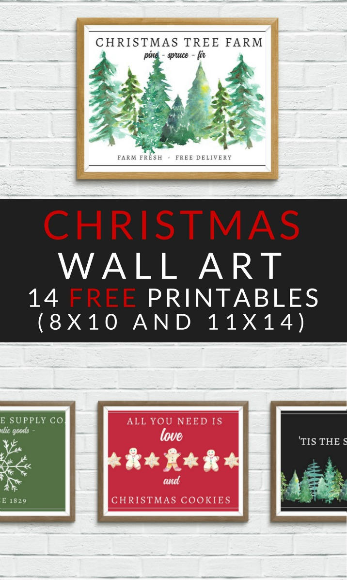 Free Christmas Printables - Farmhouse Christmas Art - The Crazy - Free Printable Christmas Art