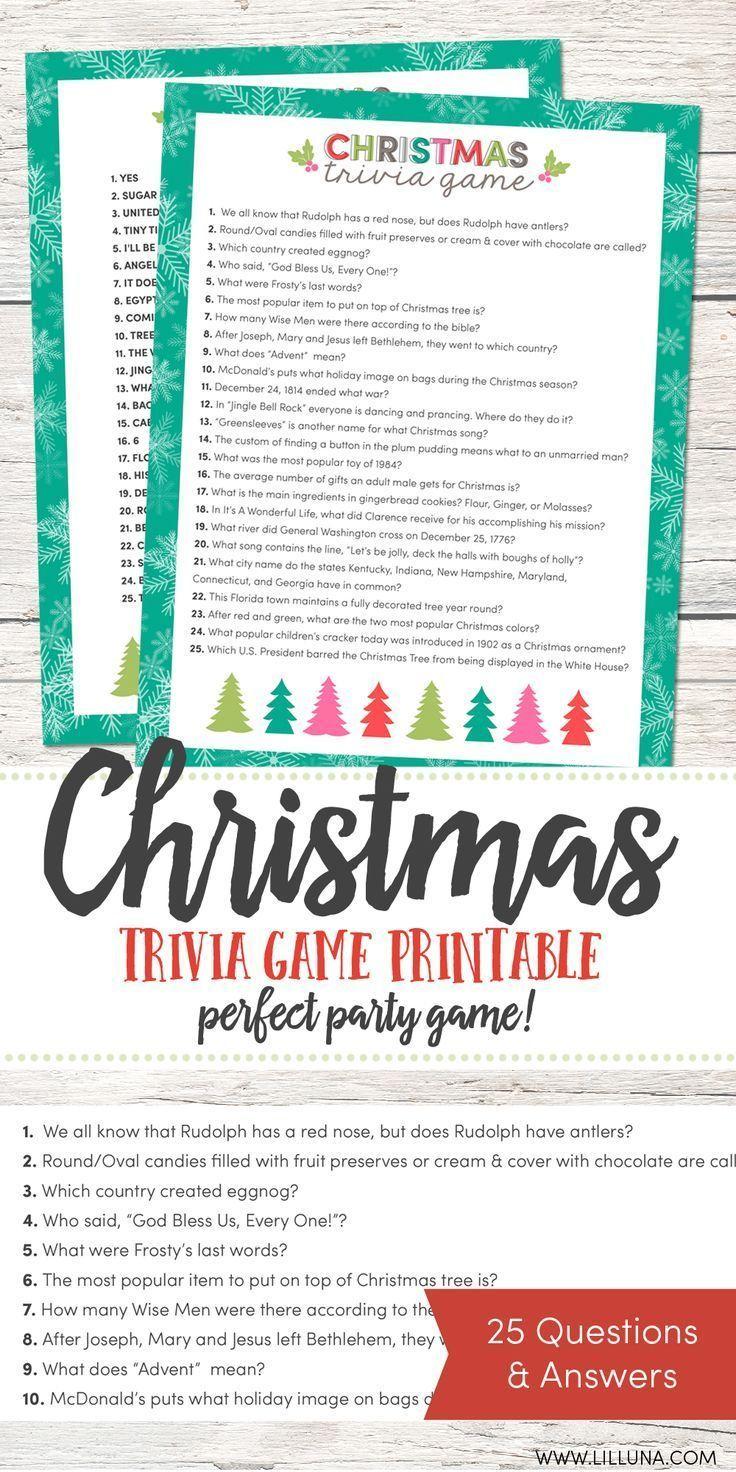 Free Christmas Trivia Game   Christmas   Pinterest   Christmas - Kwanzaa Trivia Free Printable