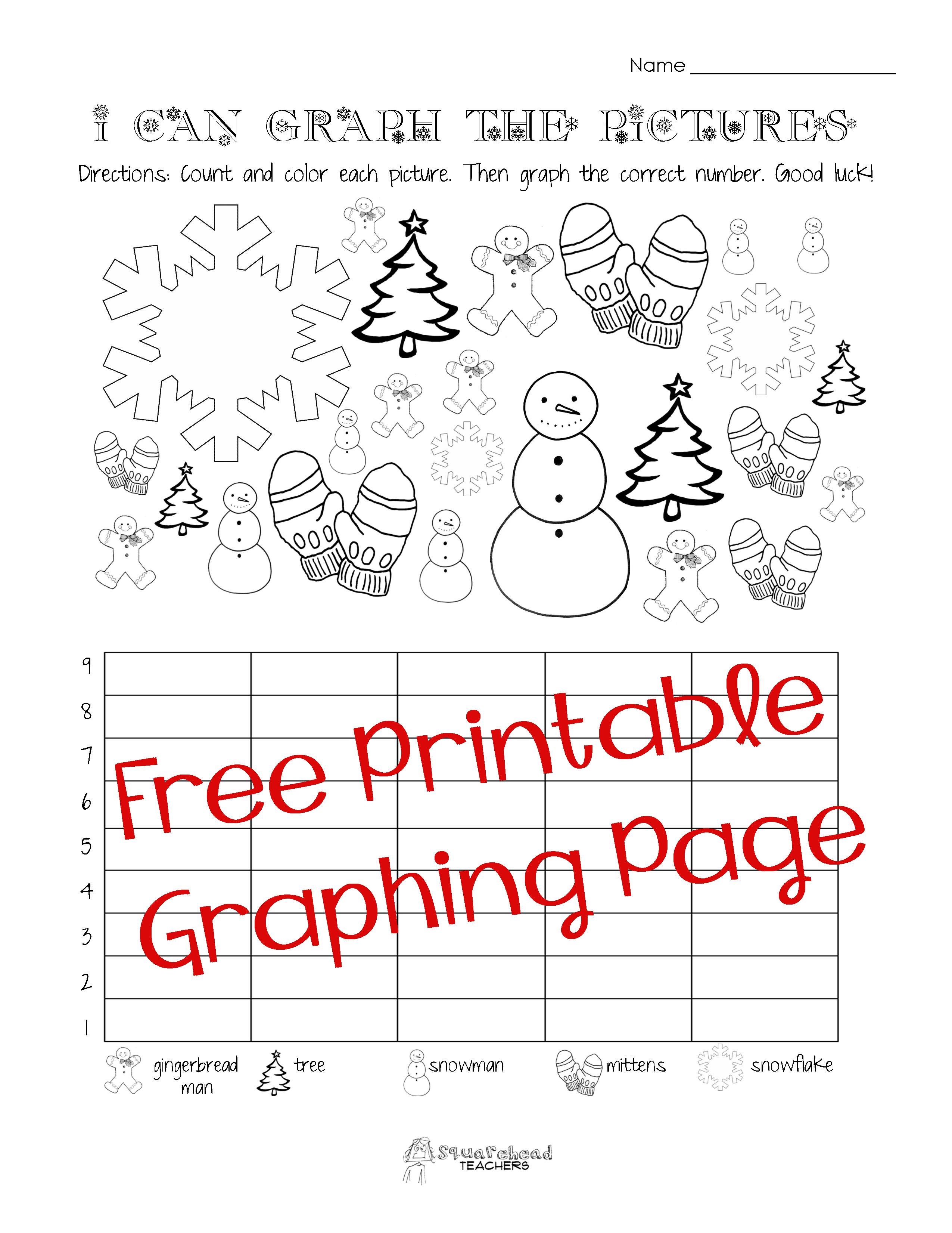 Free Christmas/winter Graphing Worksheet (Kindergarten, First Grade - Free Printable Winter Preschool Worksheets