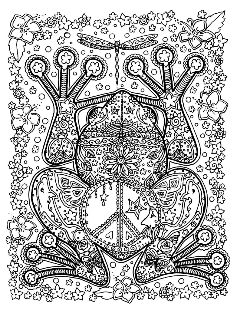 Free Coloring Pages For Adults | Popsugar Smart Living - Free Printable Coloring Cards For Adults