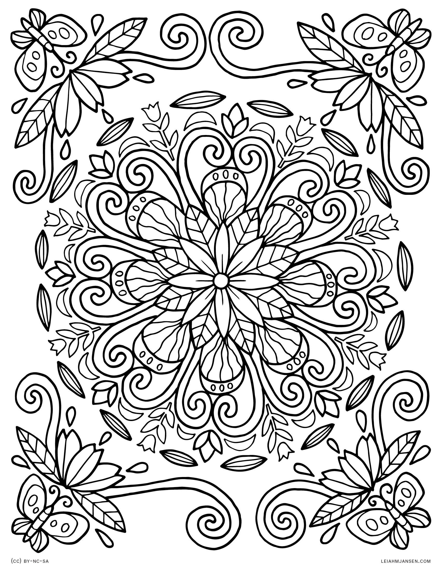 Free Coloring Pages - Free Printable Mandala Coloring Pages