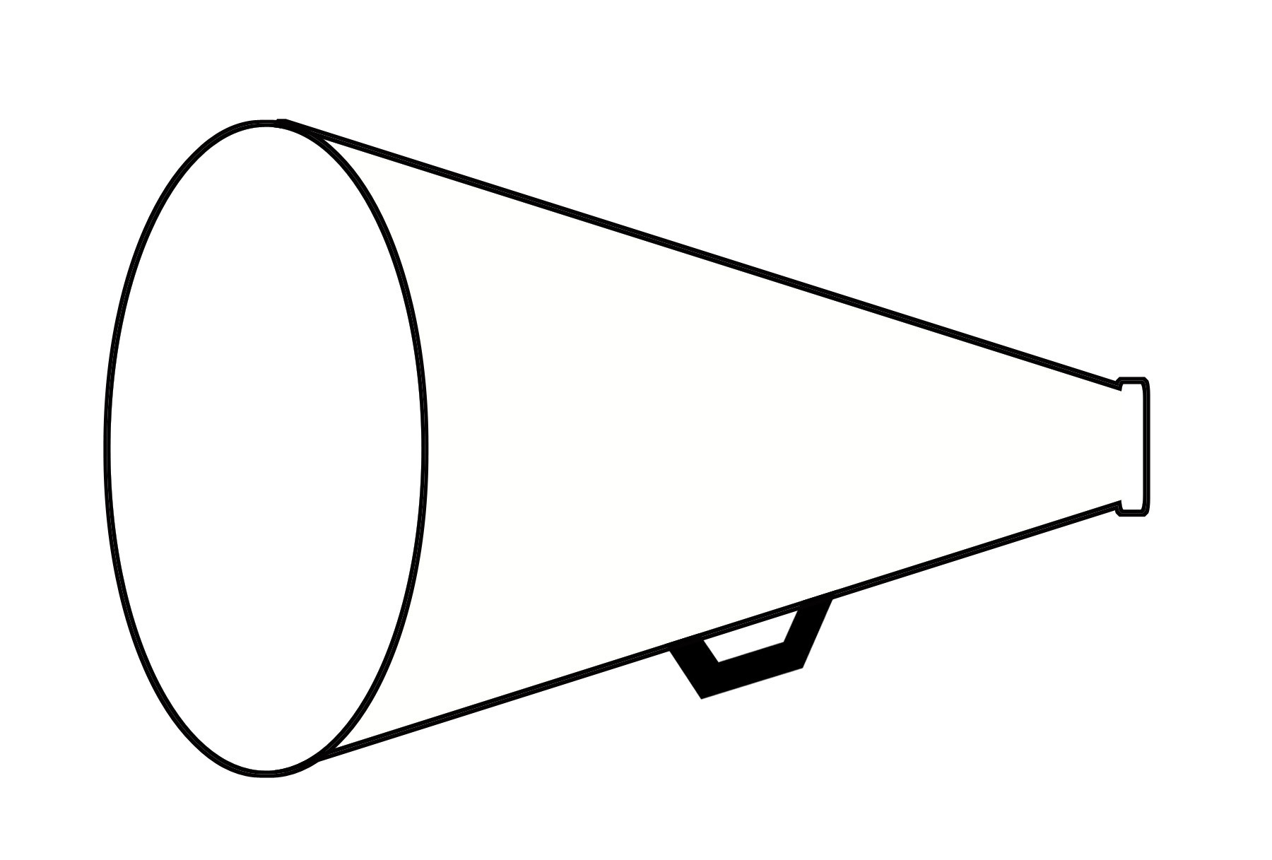 Free Coloring Pages Of Megaphone Template Lovely Megaphone Template - Free Printable Megaphone Template