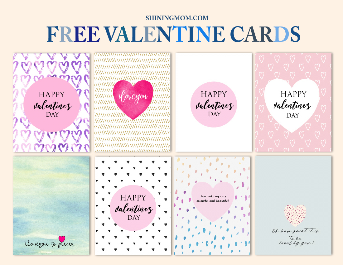 Free Cool Valentine Cards To Print: New Designs! - Free Printable Valentine Cards For Husband