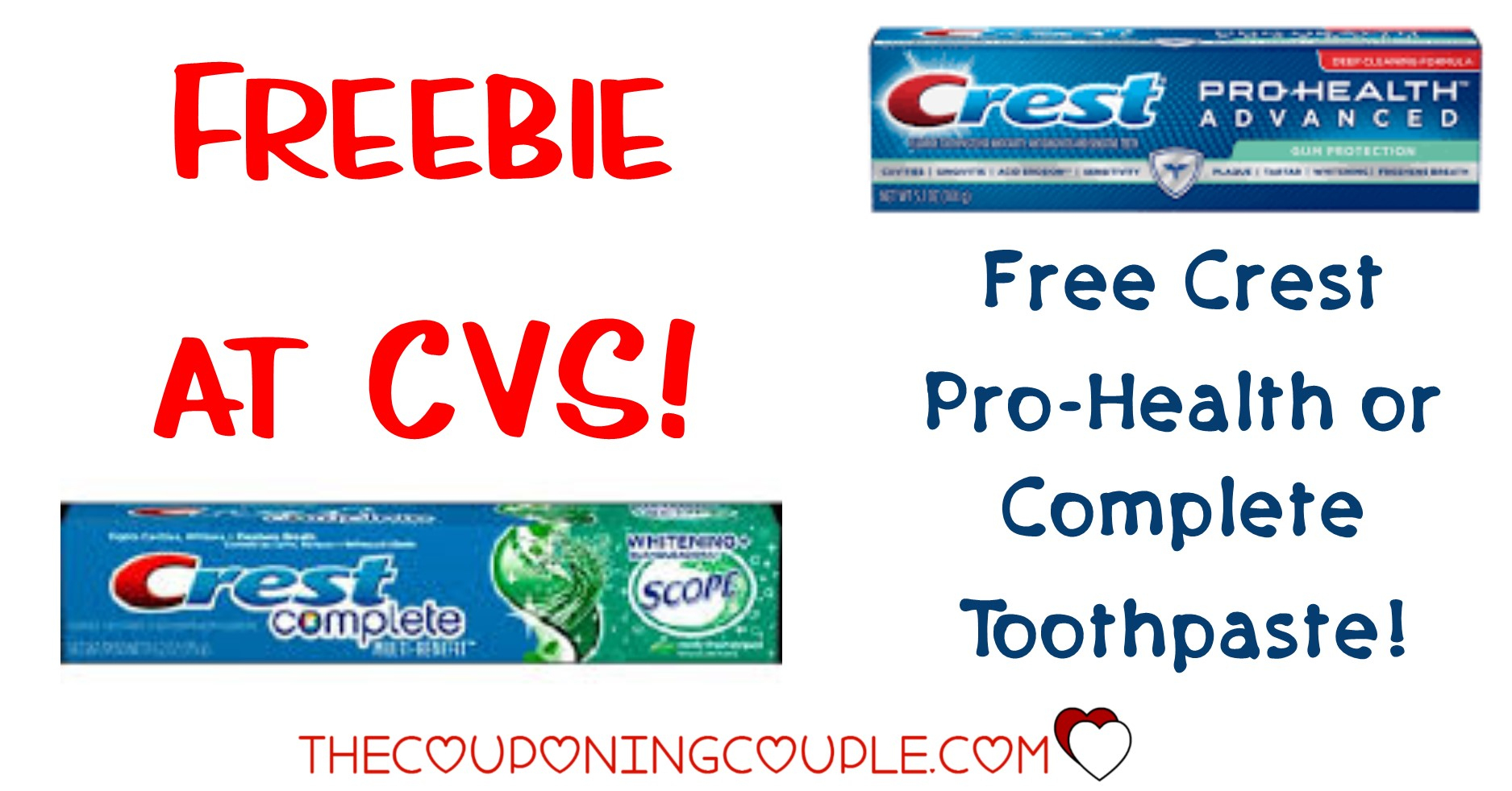 Free! Crest Toothpaste At Cvs! Easy Deal! - Free Printable Crest Coupons