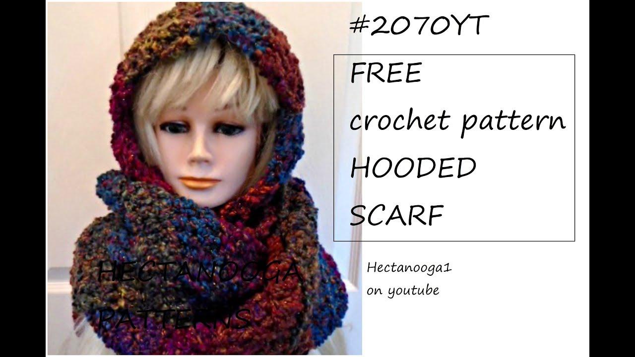 Free Crochet Pattern, #2070 - Hooded Scarf, Easy, Beginner Level - Free Printable Crochet Patterns