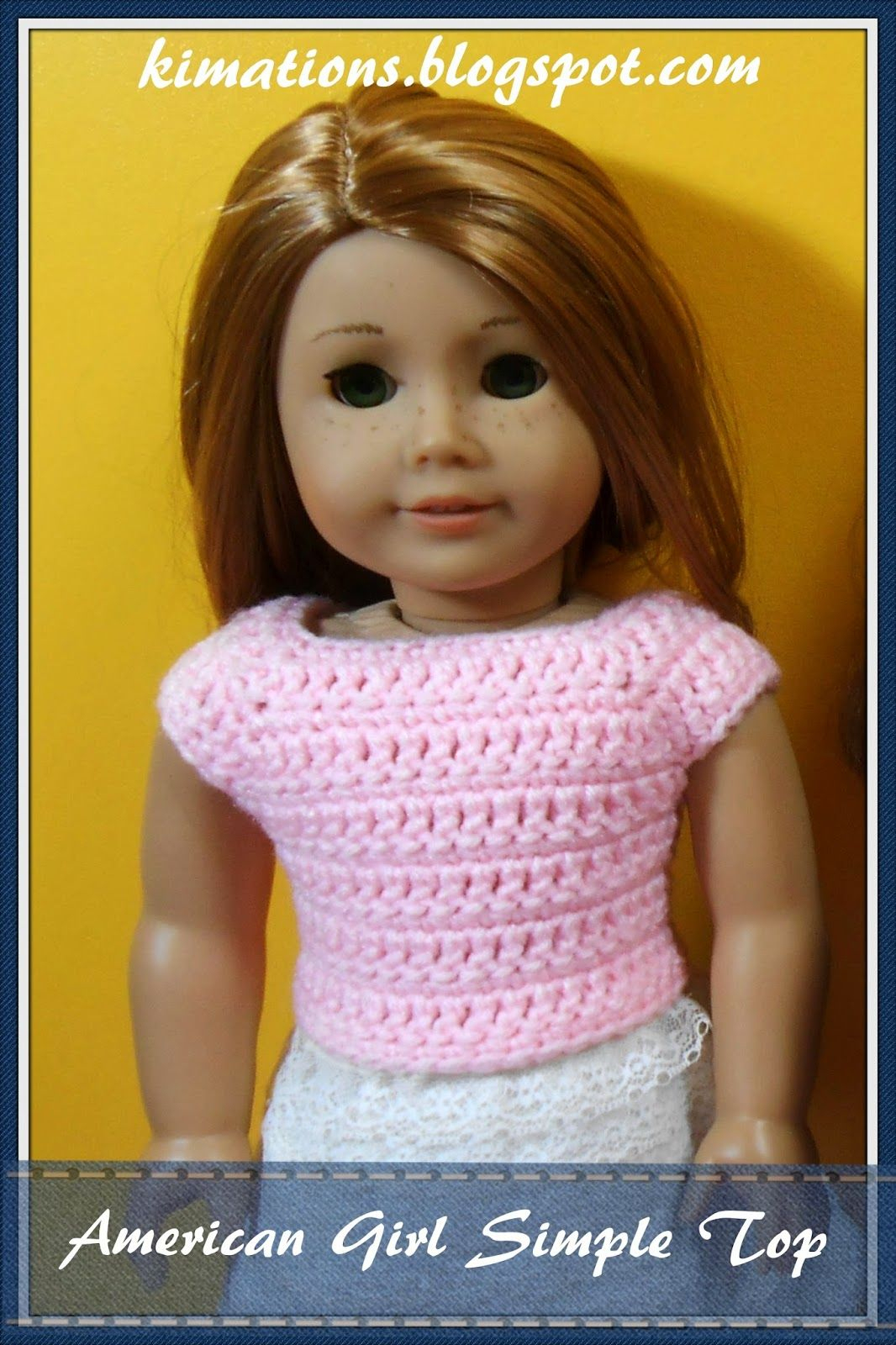 Free Crochet Pattern For 18 Inch Doll. Kimations: American Girl - Free Printable Crochet Doll Clothes Patterns For 18 Inch Dolls