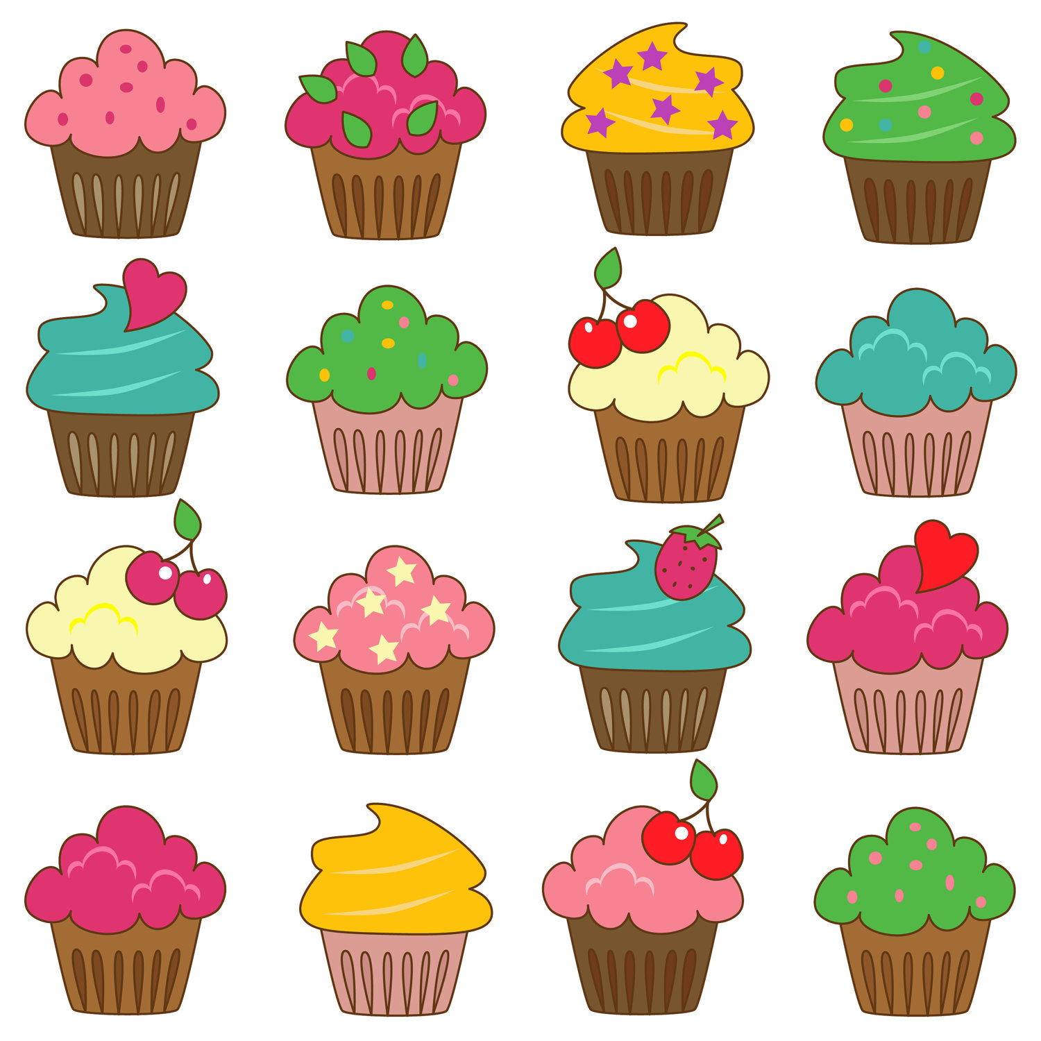 Free Cupcake Cliparts, Download Free Clip Art, Free Clip Art On - Free Printable Cupcake Clipart