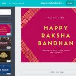 Free Custom Raksha Bandhan Card Designscanva   Free Online Printable Rakhi Cards