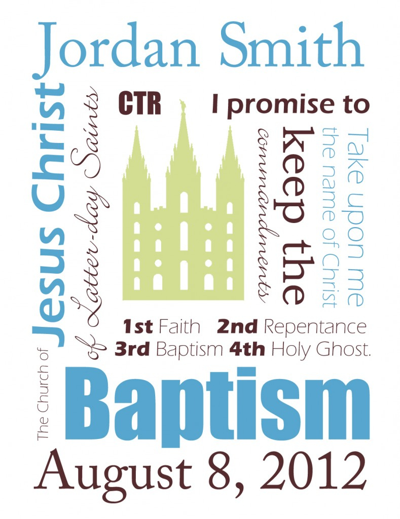 Free Customizable Baptism Printables | Sweetbriar Sisters - Free Printable Subway Art Template