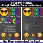 Free Customized Emoji Invitations And Birthday Printables   Free Printable Emoji B Day Invites
