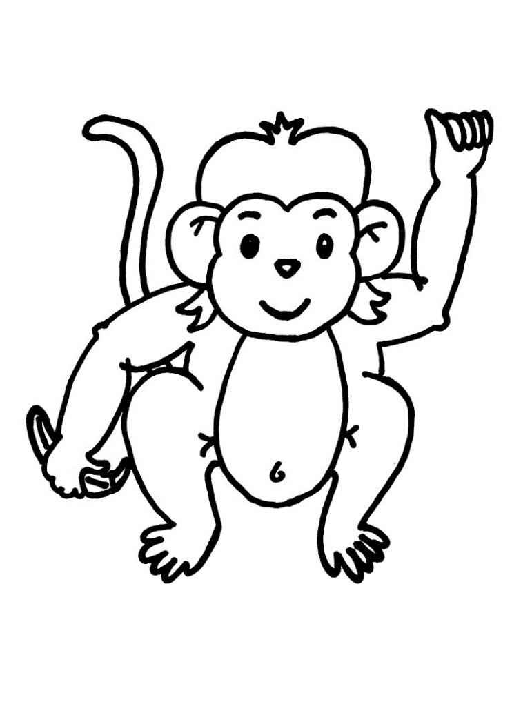 Free Cute Baby Monkey Drawings, Download Free Clip Art, Free Clip - Free Printable Monkey Coloring Pages