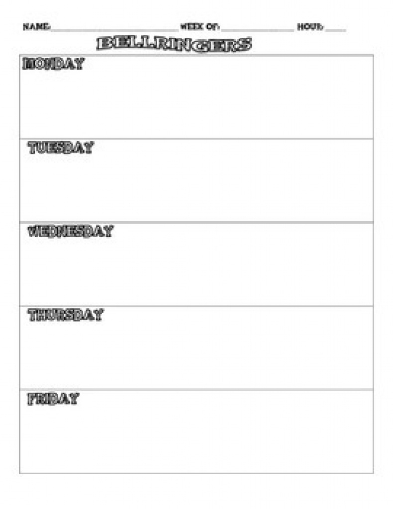 Free Daily Bellringer Sheet For Middle School! | Tpt Pertaining To - Free Printable Bell Ringers