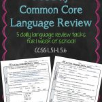 Free! Daily Common Core Language Review For 5Th Grade! Try It Out   Daily Language Review Grade 5 Free Printable