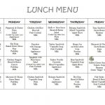 Free Daycare Menus To Print | 8 Best Images Of Printable Preschool   Free Printable Daycare Menus