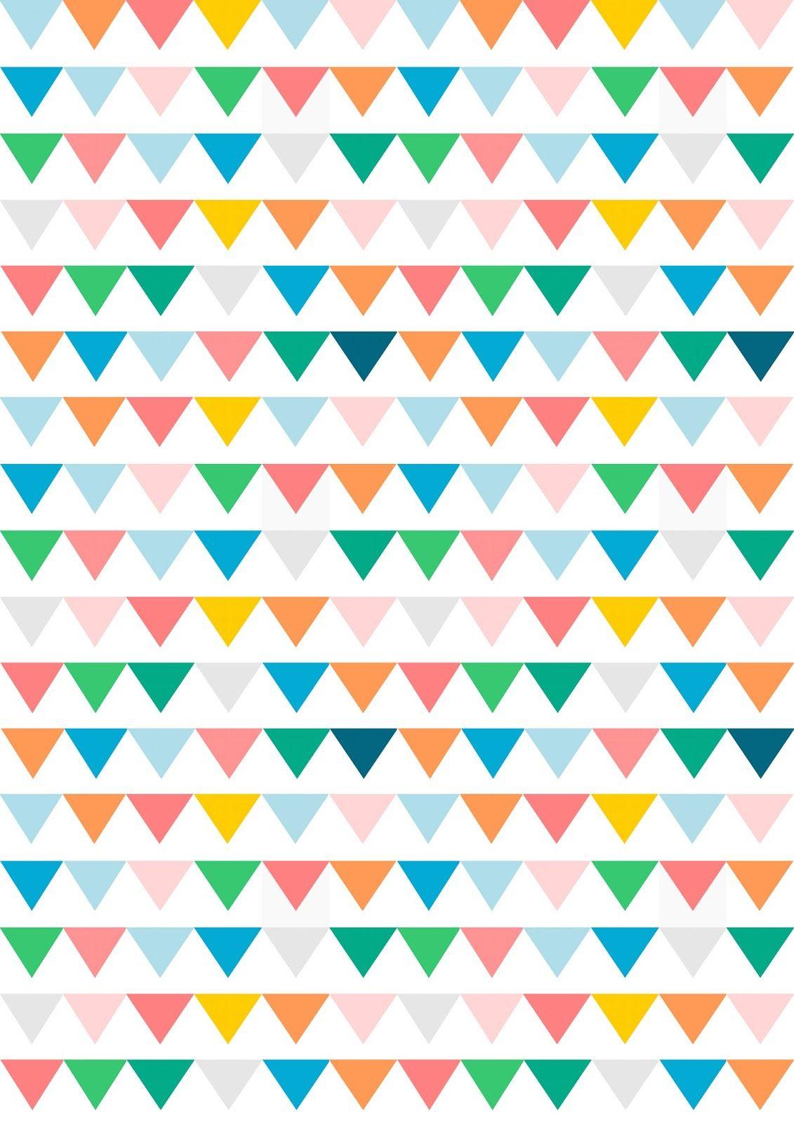 Free Digital Bunting Scrapbooking Paper - Ausdruckbares - Free Printable Scrapbook Paper Designs