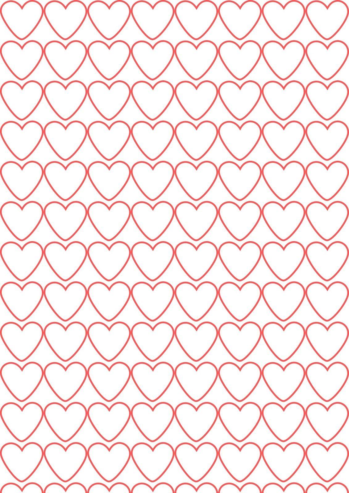 Free Digital Coloring Heart Scrapbooking Paper – Ausdruckbares - Free Printable Pattern Paper Sheets