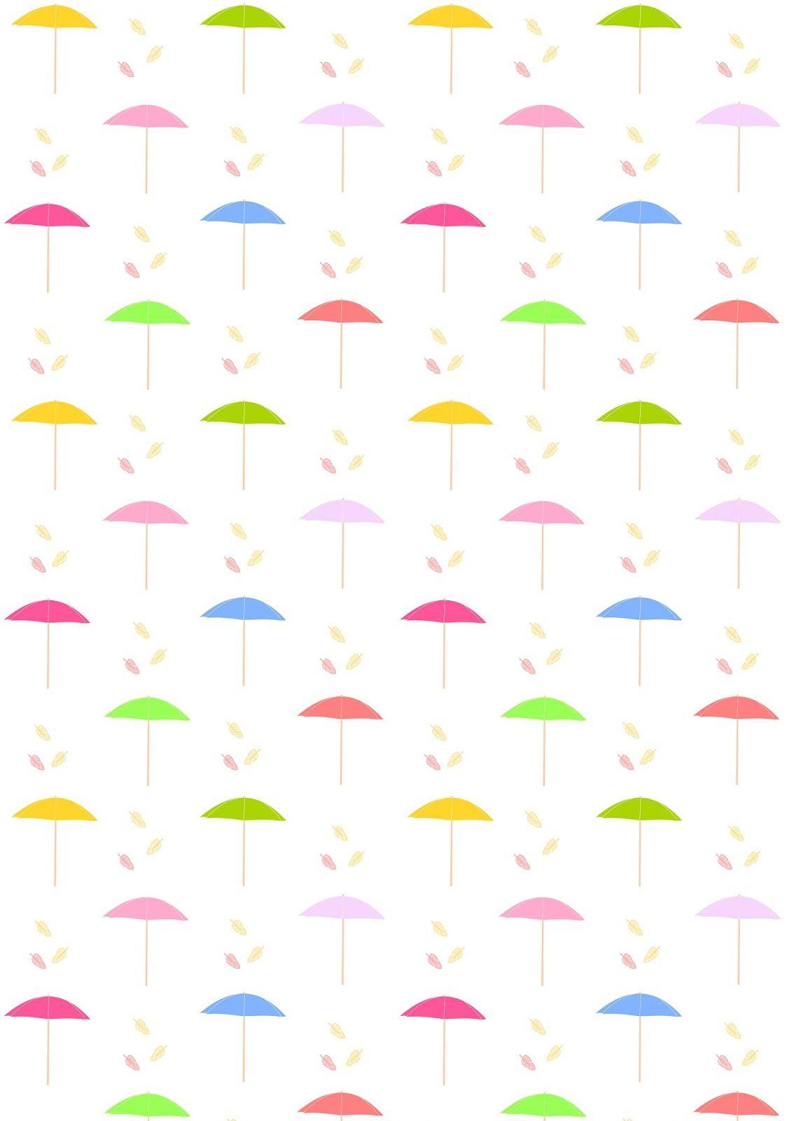 Free Digital Parasol Scrapbooking Paper - Ausdruckbares - Free Printable Scrapbook Paper