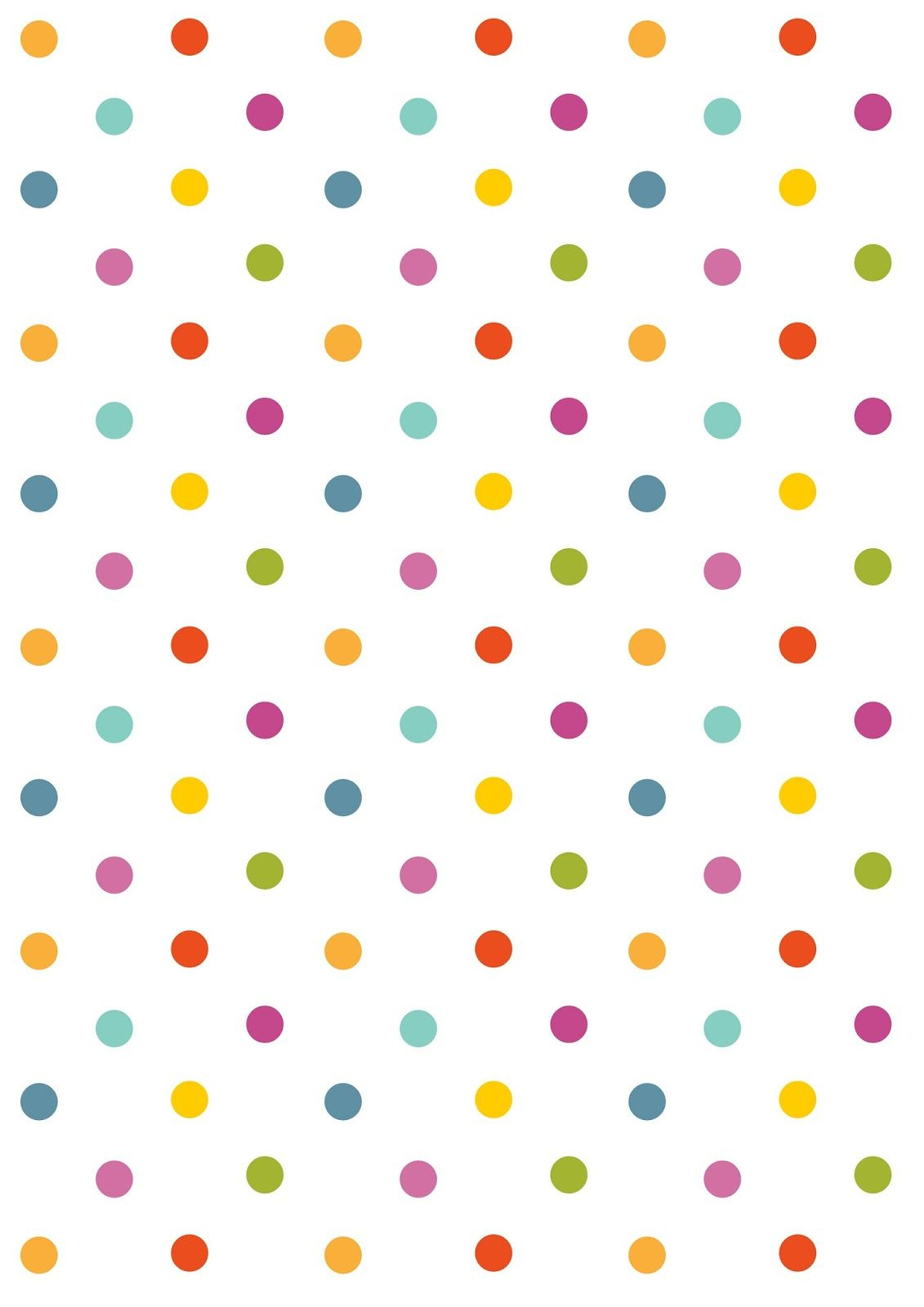 Free Digital Polka Dot Scrapbooking Paper - Ausdruckbares - Free Online Digital Scrapbooking Printable