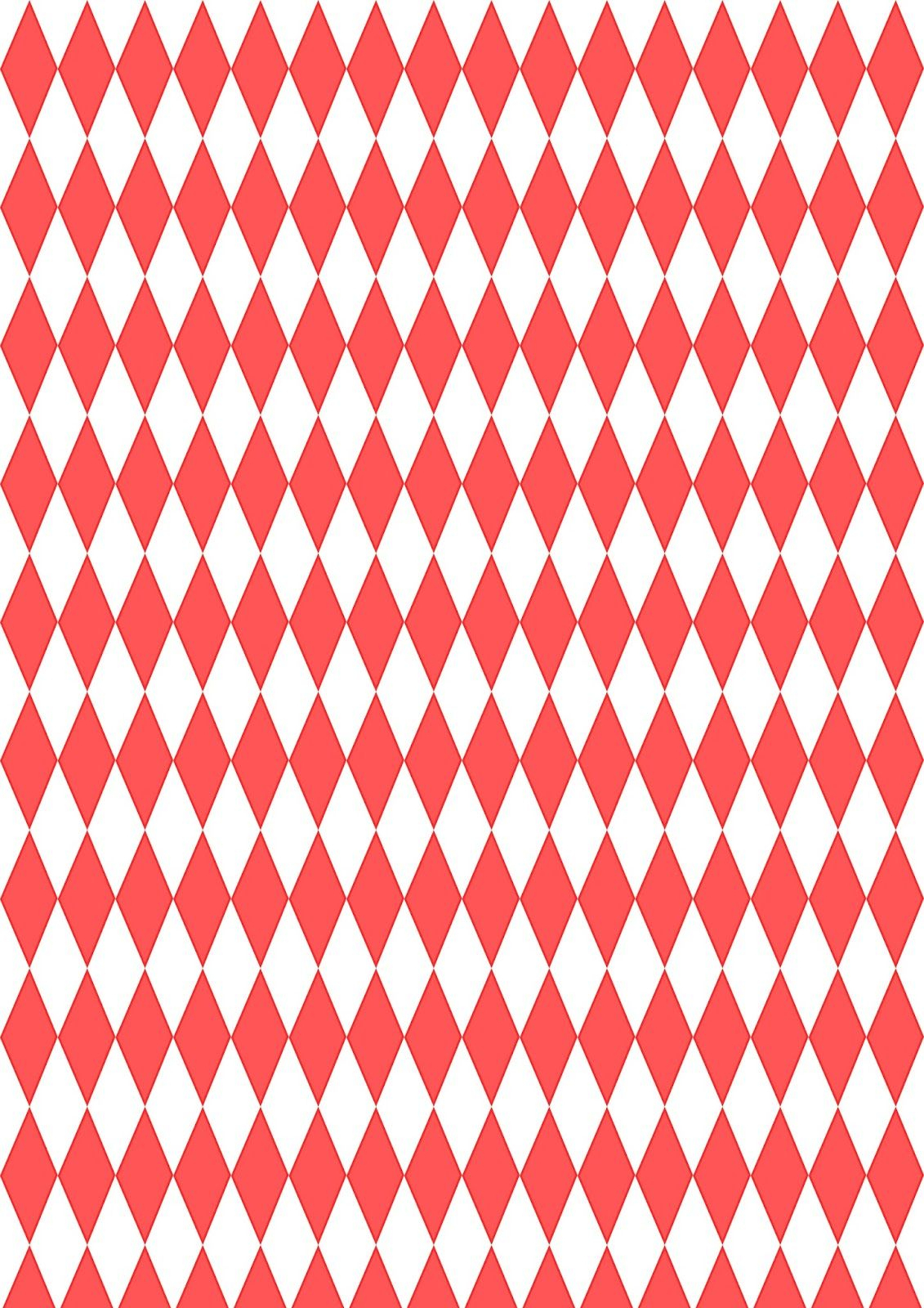 Free Digital Red Harlequin Scrapbooking Paper - Ausdruckbares - Free Printable Pattern Paper Sheets