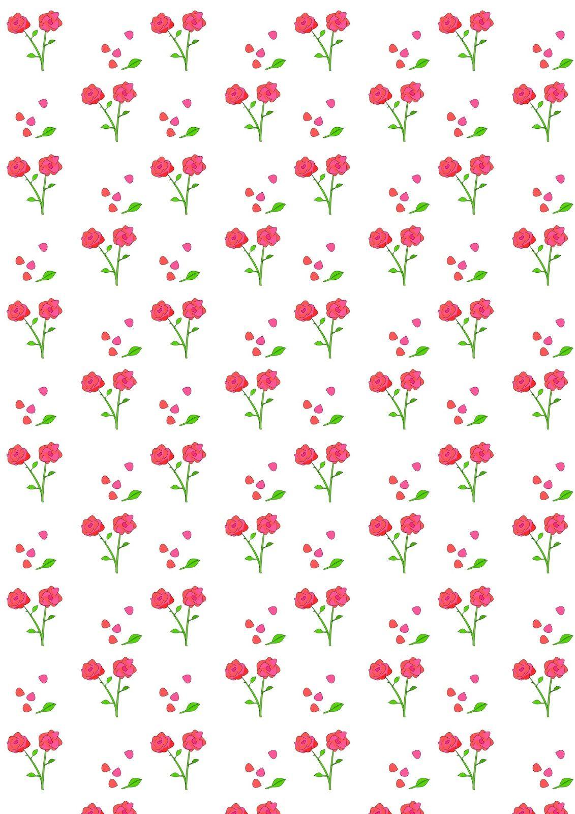 Free Digital Rose Scrapbooking Paper - Ausdruckbares Geschenkpapier - Free Printable Scrapbook Paper Designs