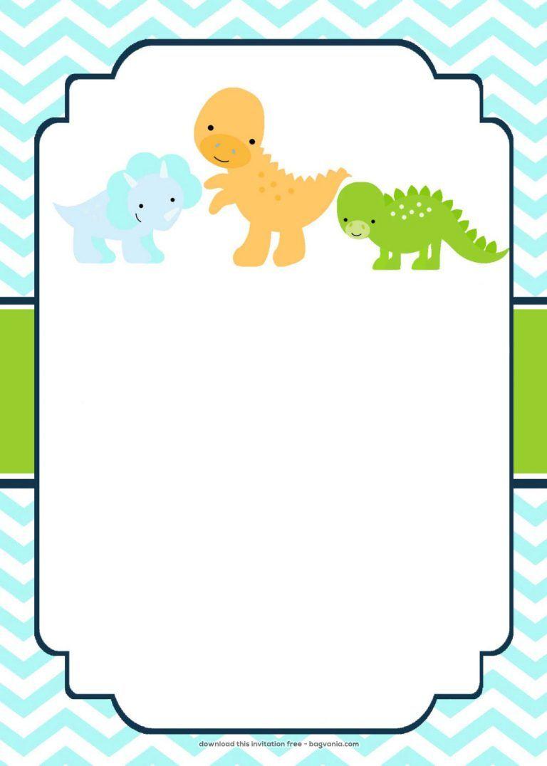 Free Dinosaur Birthday Invitations   Bagvania Free Printable - Free Printable Dinosaur Birthday Invitations