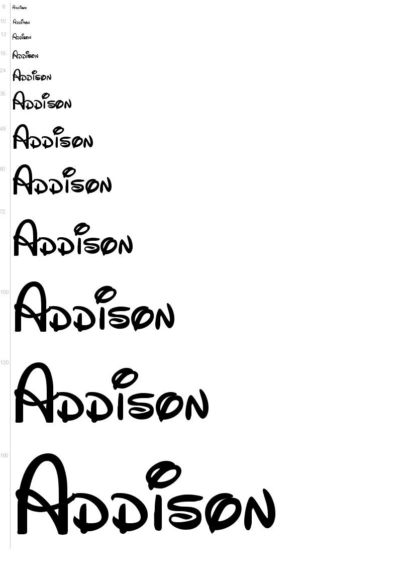Free Disney Font Template. Enter Your Own Text For A Preview - Free Printable Disney Alphabet Letters