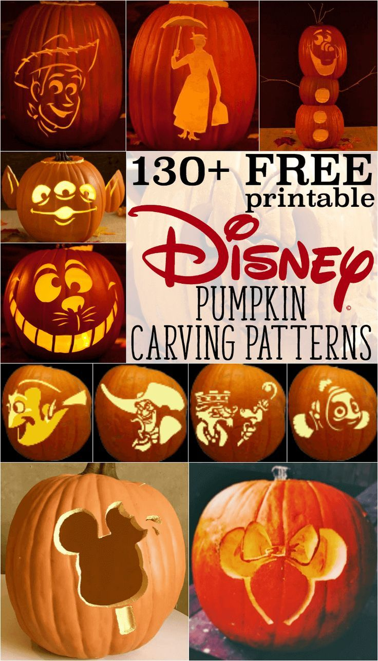 Free Disney Pumpkin Stencils: Over 130 Printable Pumpkin Carving - Pumpkin Carving Patterns Free Printable