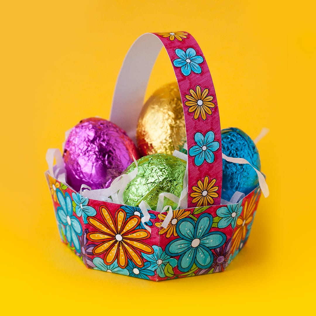 Free Diy Easter Egg Basket Template - Sarah Renae Clark - Coloring - Free Printable Easter Egg Basket Templates