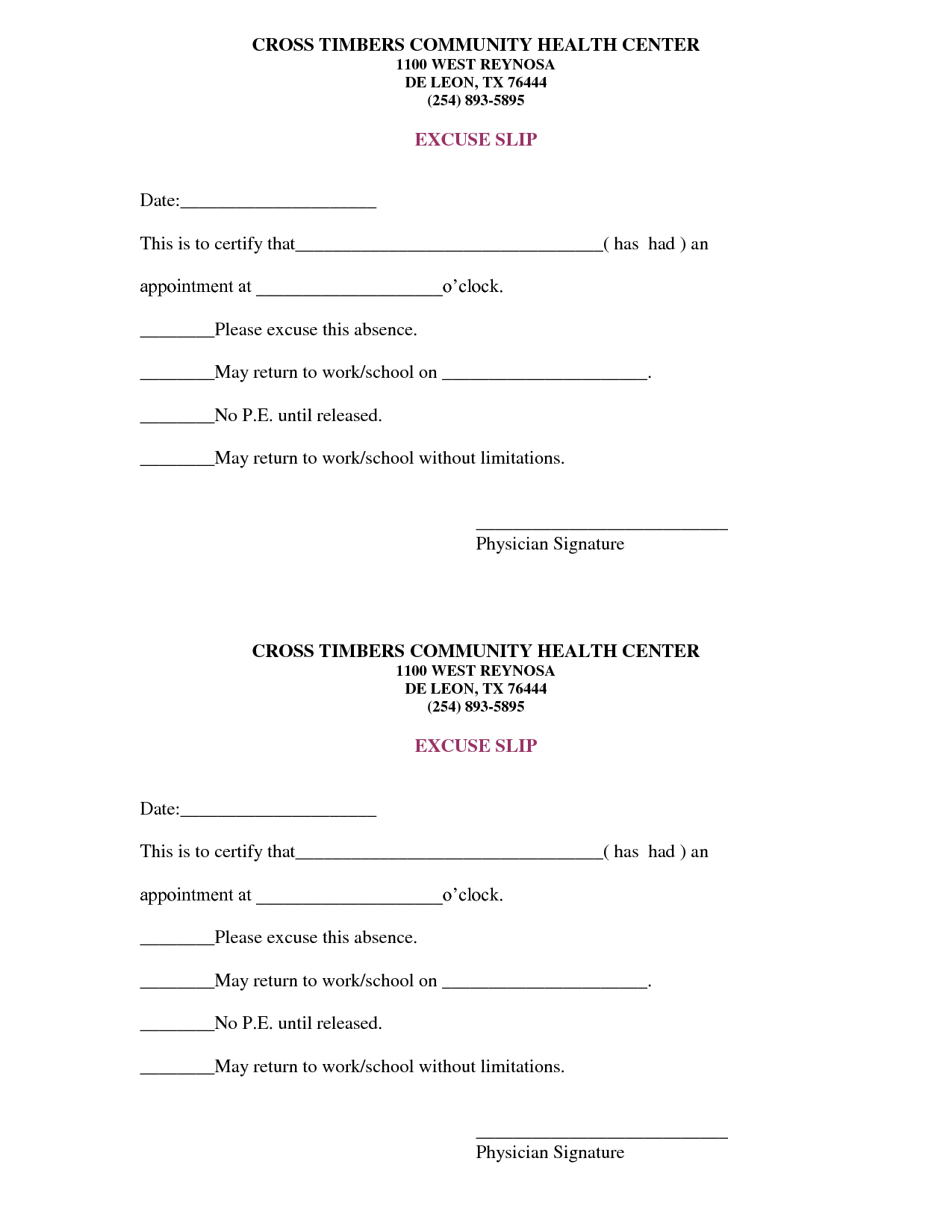 Free Doctors Note Template   Scope Of Work Template   On The Run - Free Printable Doctor Notes