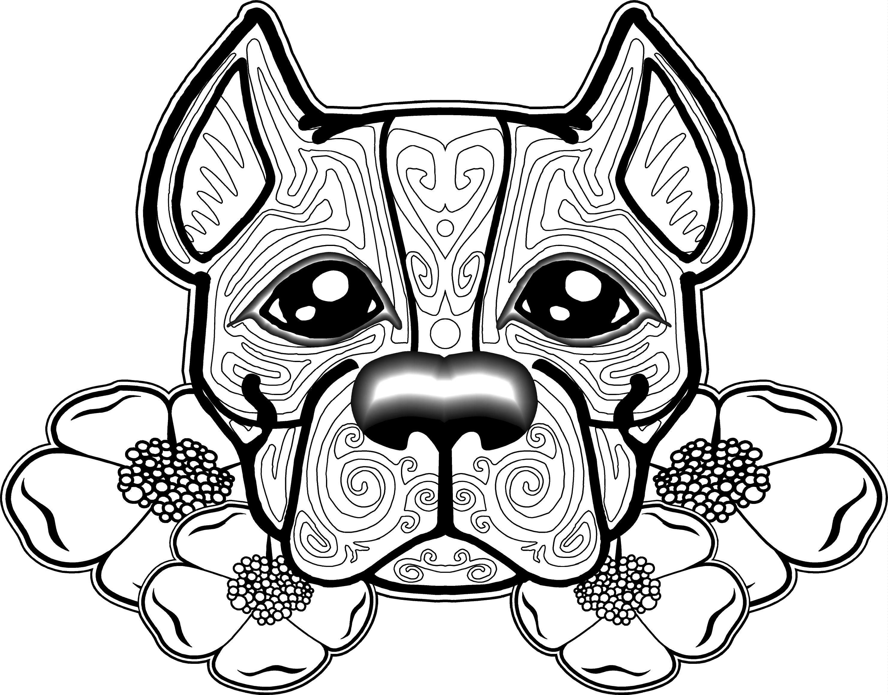 Free Dog Coloring Pages For Adults   Free Printable Coloring Pages - Free Printable Dog Coloring Pages