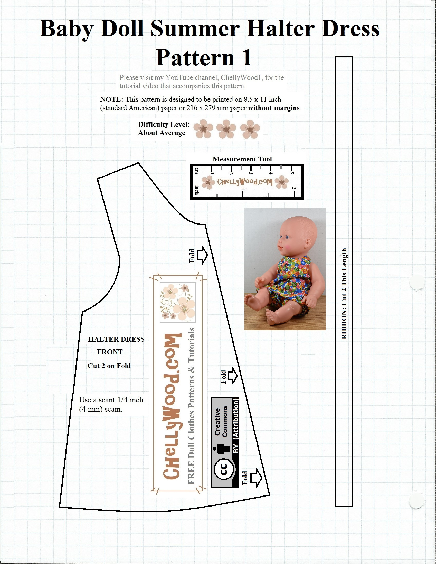 Free #dollclothes #patterns For 12″ Baby #dolls @ Chellywood - Free Printable Patterns For Sewing Doll Clothes