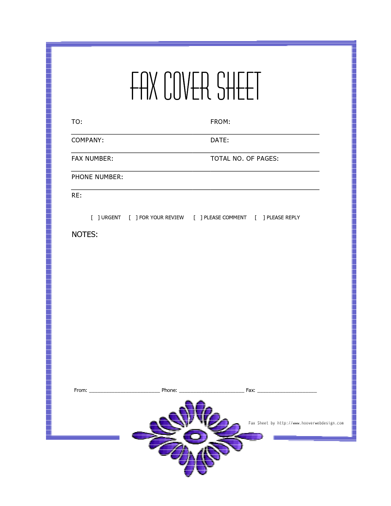 Free Downloads Fax Covers Sheets | Free Printable Fax Cover Sheet - Free Printable Fax Cover Sheet