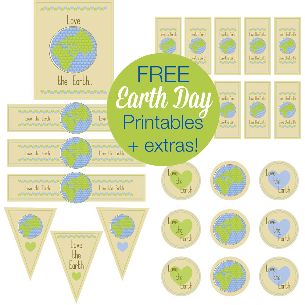 Free Earth Day Printables And More! | Printable Party Games And More - Free Printable Earth Pictures