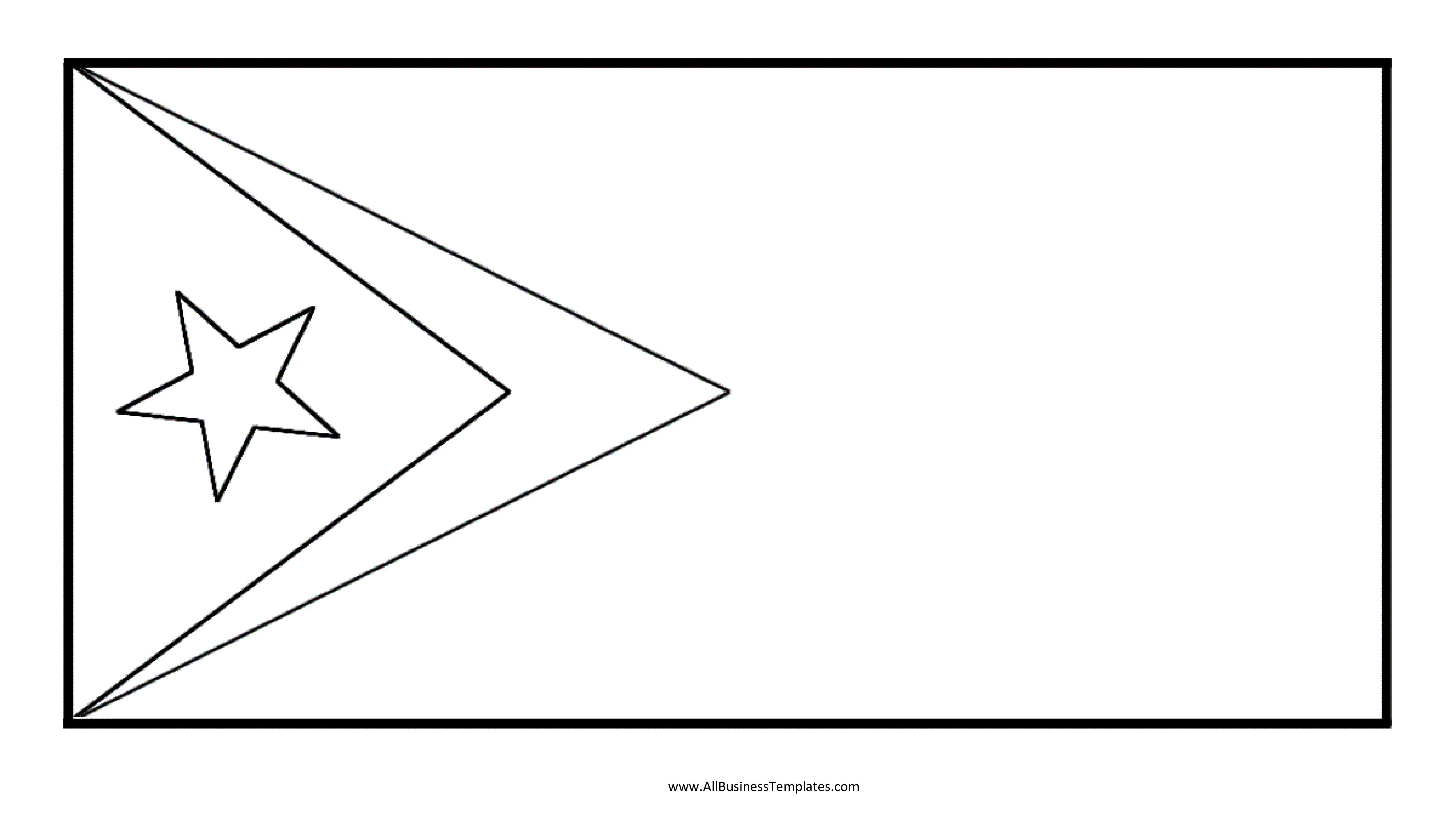 Free East Timor Printable Flag   Templates At Allbusinesstemplates - Free Printable Blank Flag Template