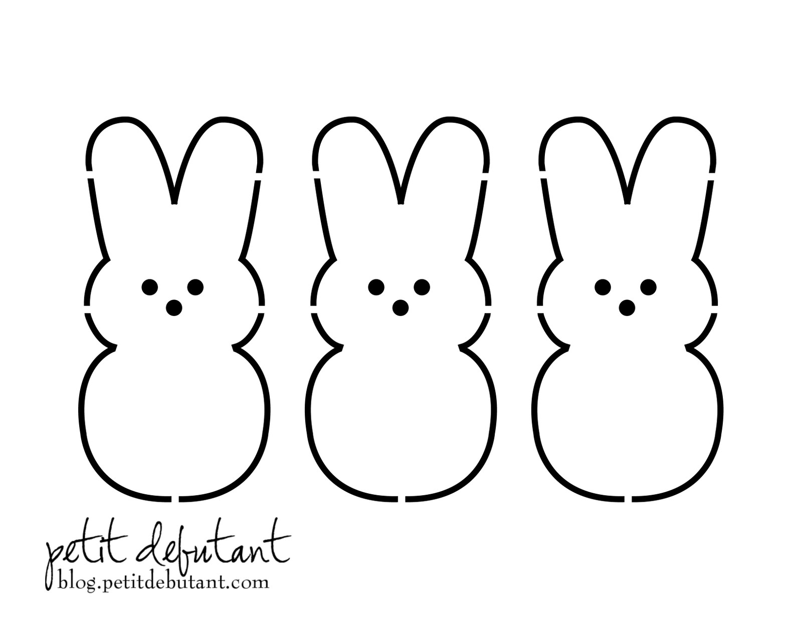 Free Easter Bunny Templates Printables – Hd Easter Images - Free Printable Bunny Templates