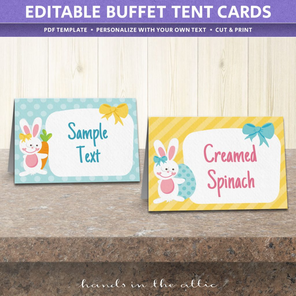 Free Easter Party Food Labels   Printable Download   Hands In The Attic - Free Printable Buffet Food Labels