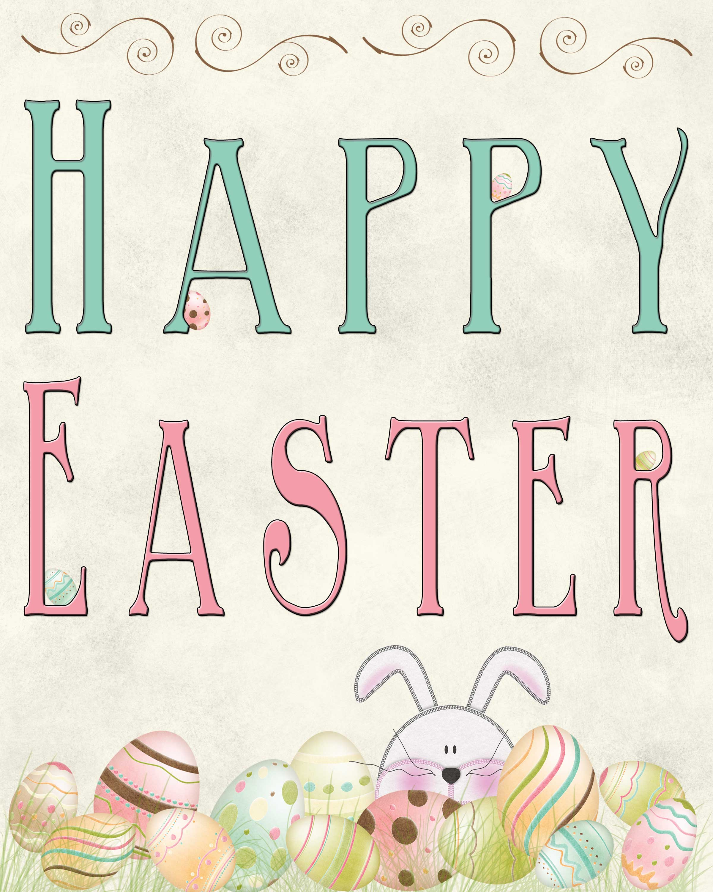 Free Easter Printable - Tgif - This Grandma Is Fun - Free Printable Easter Decorations