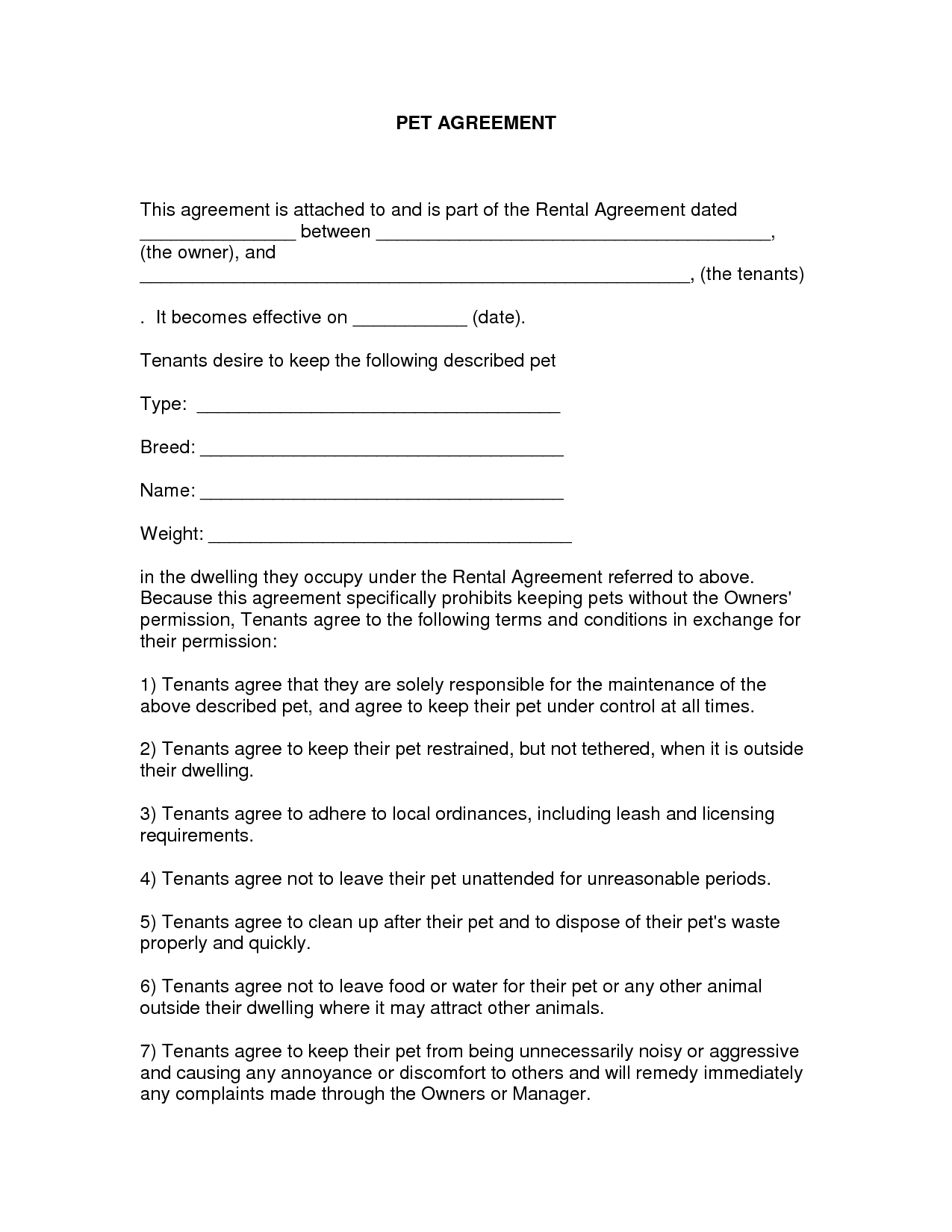 Free Easy Lease Agreement To Print | Free Printable Lease Agreement - Free Printable Lease Agreement Texas
