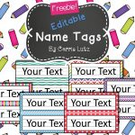 Free Editable!! Chevron, Dots Or Rainbow.simple Name Tags Type In   Free Customized Name Tags Printable
