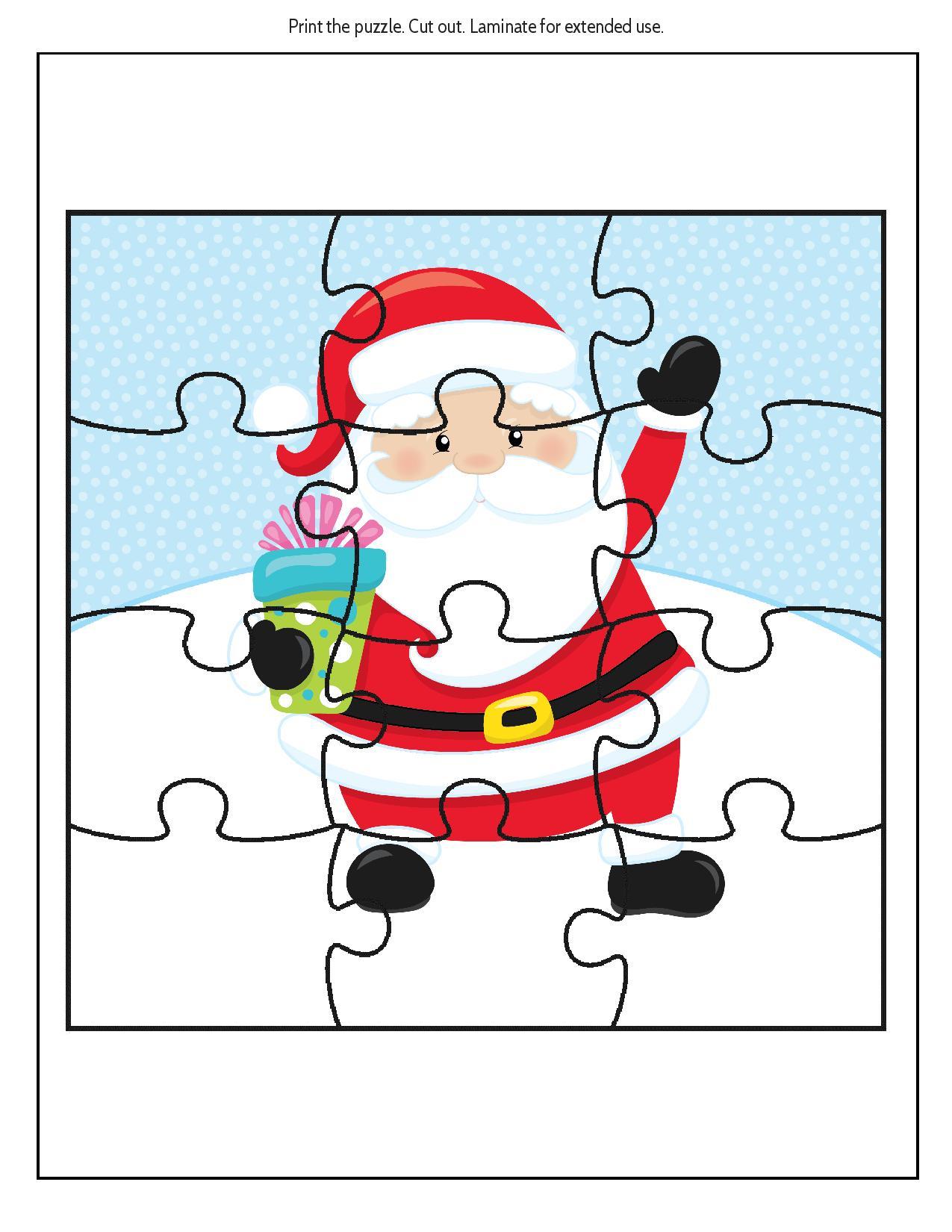 Free Educational Printable Christmas Puzzle Pack - Real And Quirky - Free Printable Christmas Puzzle Sheets