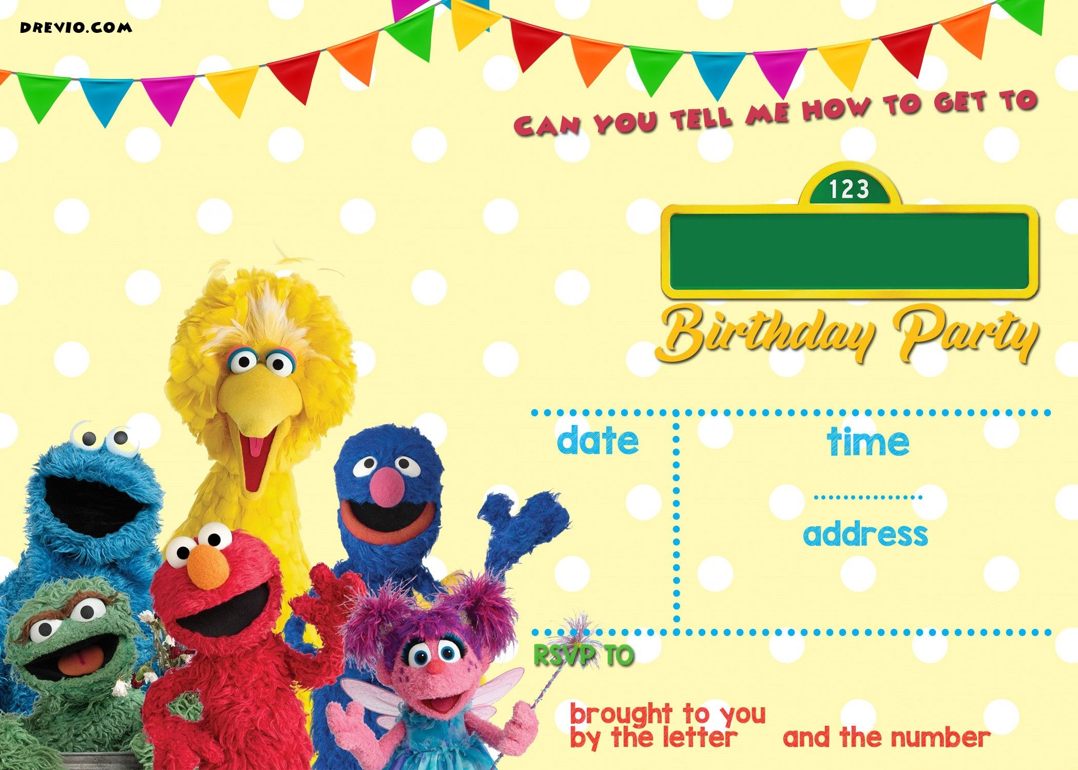 Free Elmo Birthday Invitations Template Simple Free Printable Sesame - Free Printable Sesame Street Cupcake Toppers