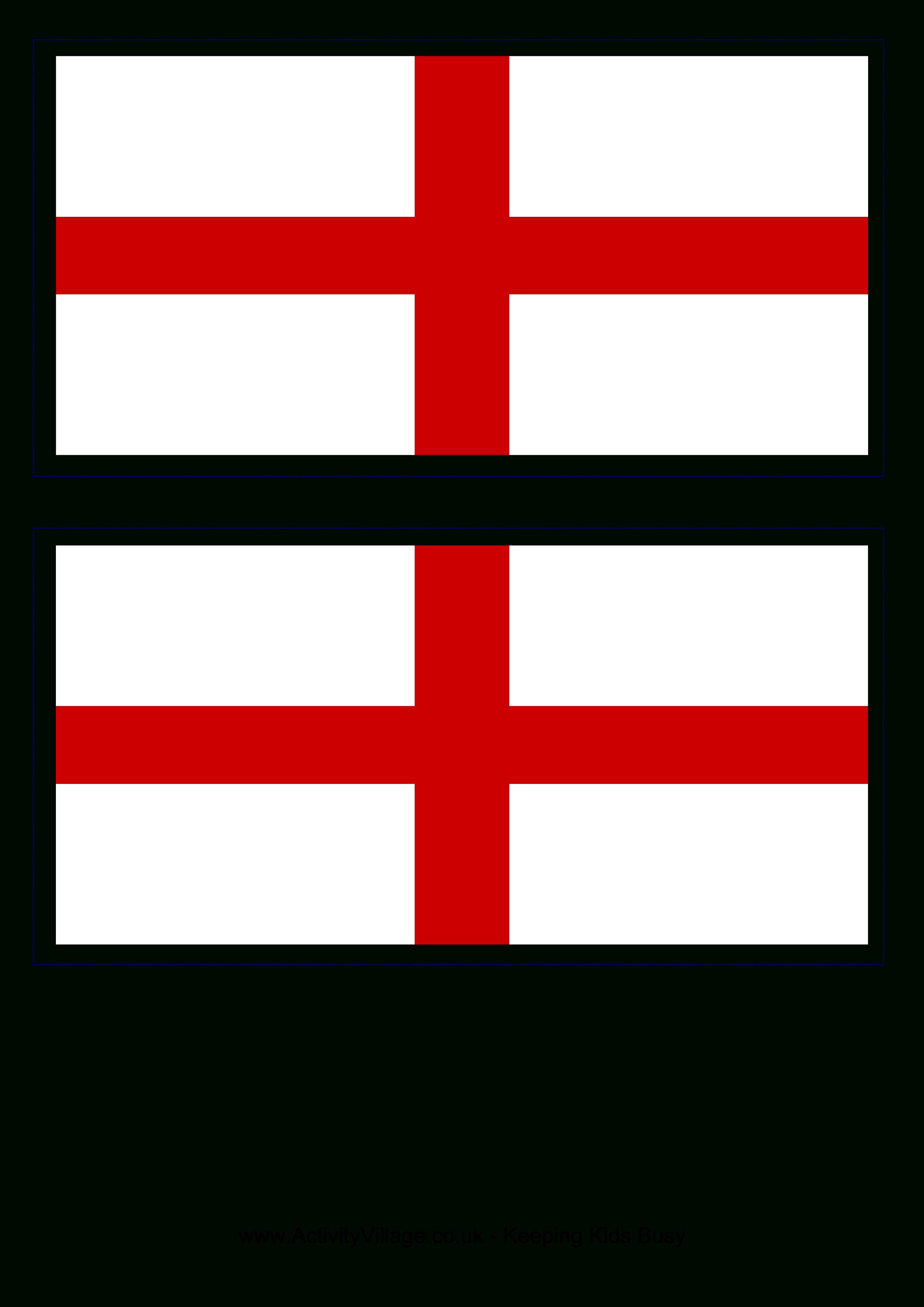 Free England Flag   Templates At Allbusinesstemplates - Free Printable Blank Flag Template