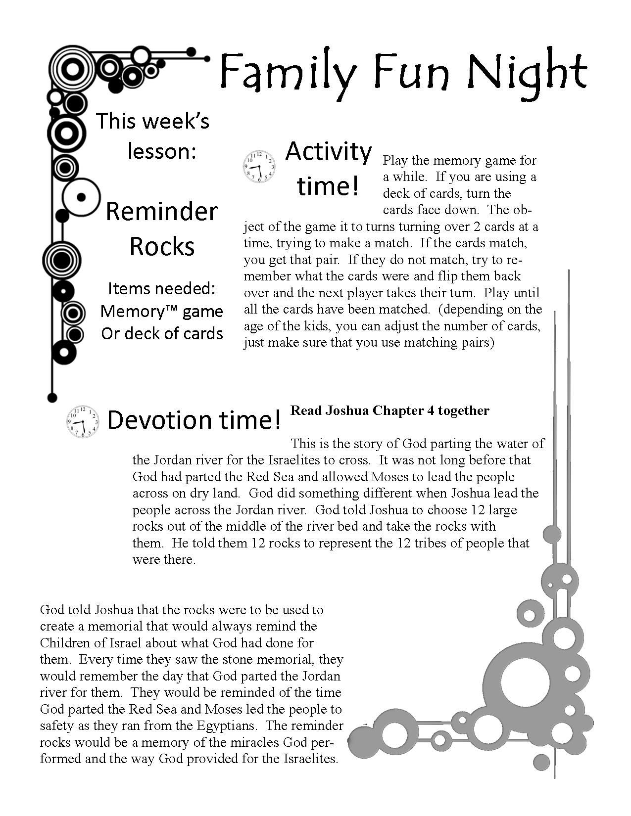 Free Family Fun Devotion Time. Printable Game, Lesson, Activity - Free Printable Sunday School Lessons For Teens
