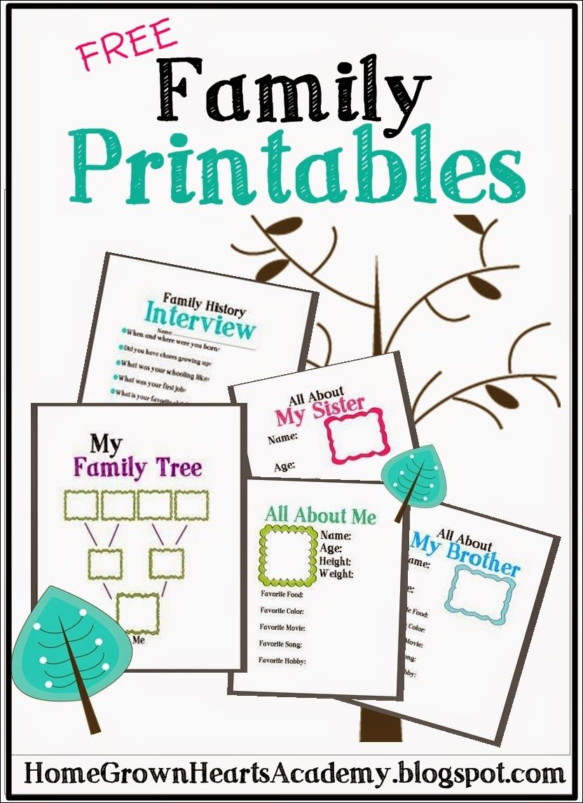 Free Family Printables | Cub Scouts | Pinterest | Family Genealogy - My Family Tree Free Printable Worksheets