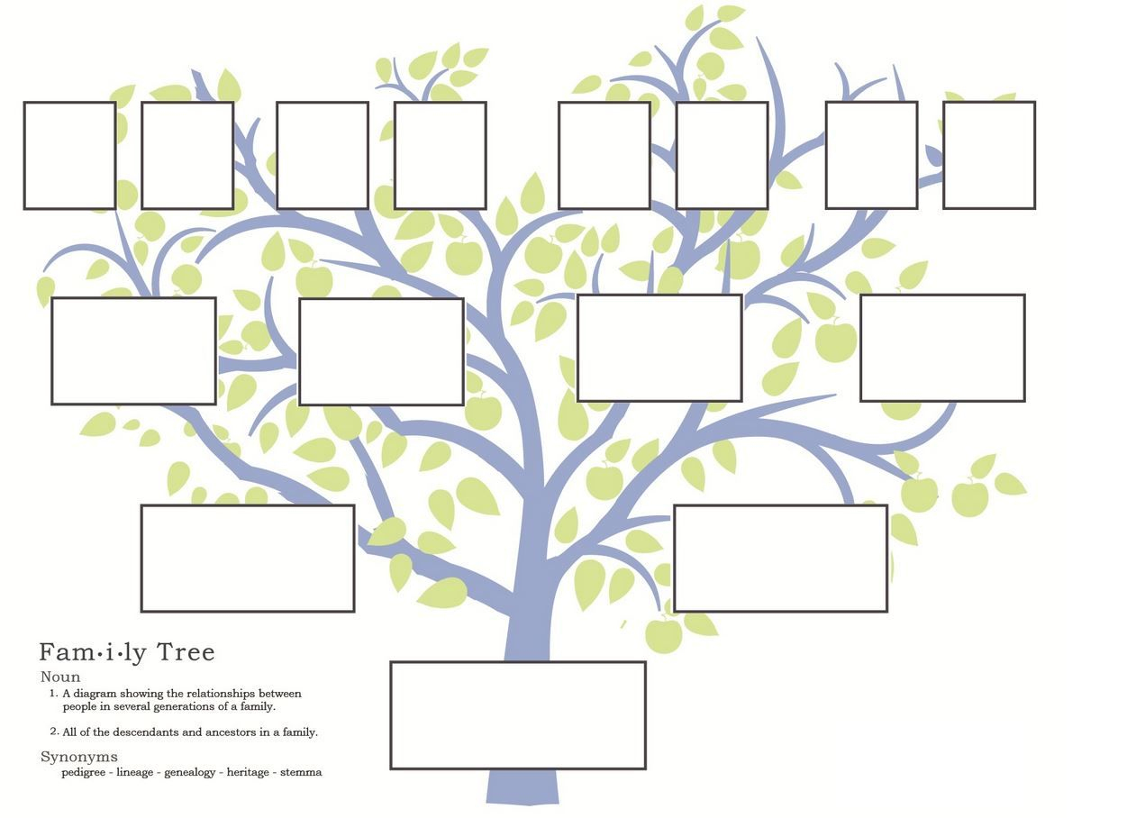 Free Family Tree Template To Print - Google Search … | Grandparents - Family Tree Maker Online Free Printable