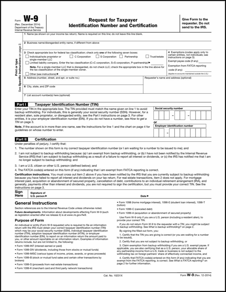 Free Fillable W 9 Form - Form : Resume Examples #a4Y8Bnl86M - W9 Free Printable Form 2016
