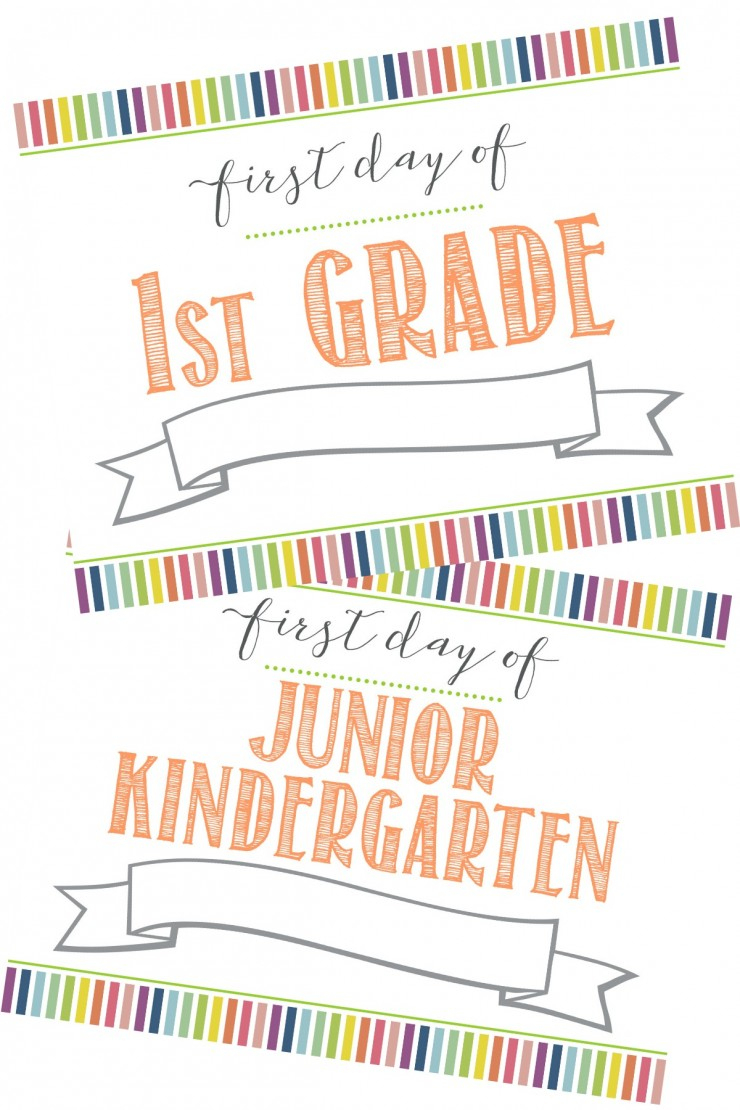 Free First Day Of School Printable Sign (+ Last Day Of School - First Day Of School Printable Free