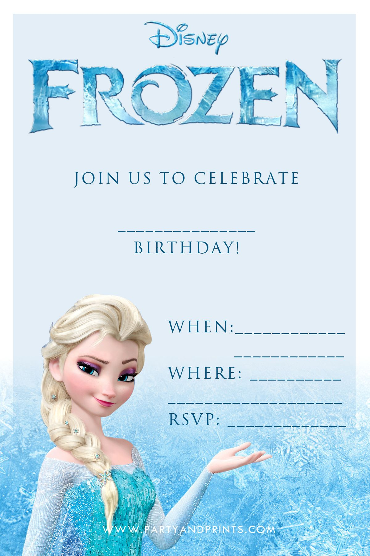Free Frozen Invitation | Birthday Ideas | Pinterest | Frozen - Free Printable Frozen Birthday Invitations