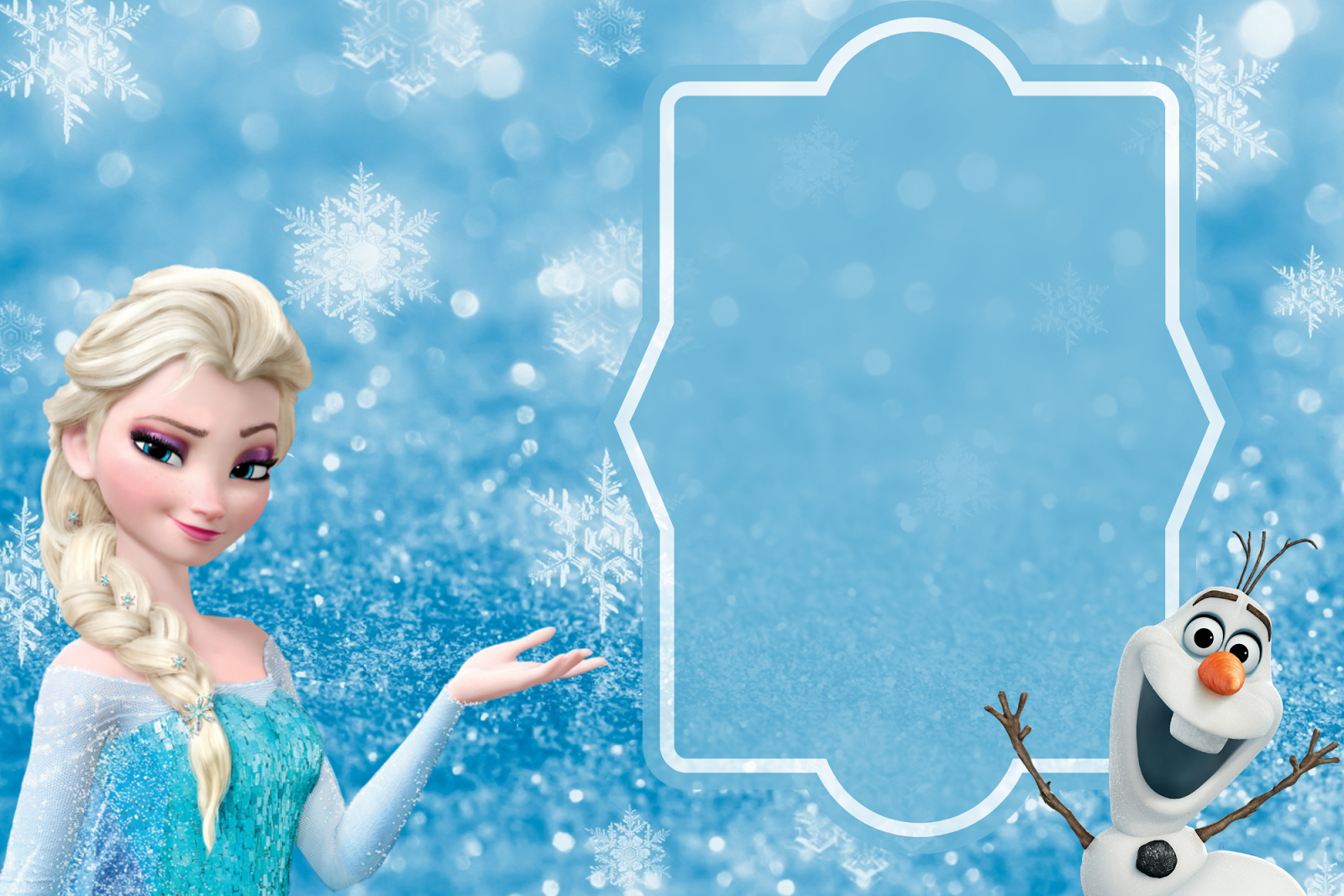 Free Frozen Party Invitation Template Download + Party Ideas And - Free Printable Frozen Birthday Invitations